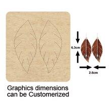 wooden leaves pendent earring dies Scrapbook Die Cut DIY handmade New Dies Wooden cutting Template Cutting Mold Wood