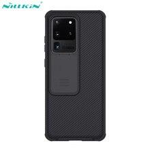 Nillkin 케이스 삼성 갤럭시 S20 울트라 케이스 5G 커버 6.9 camshield 프로 슬라이드 카메라 렌즈 보호 전화 다시 쉘
