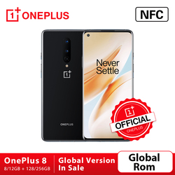 Global Rom Oneplus 8 5G OnePlus Official Store Smartphone Snapdragon 865 Octa Core 8GB 128GB 6.55'' 90Hz Screen 30W Charger NFC