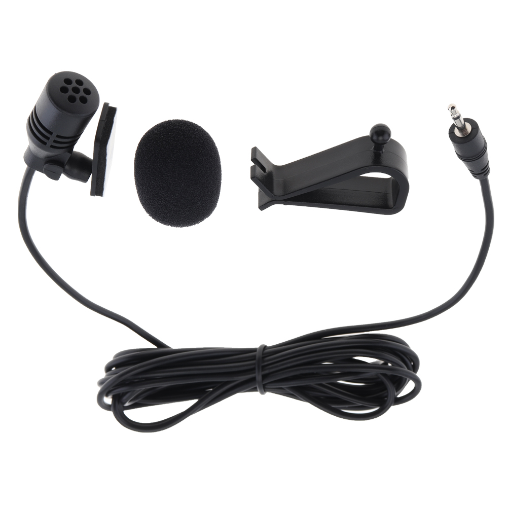 Mini 3m Car Microphone External Mic PVC With Wired 2.5 Mm Stereo Jackfor PC Car DVD / GPS Player / Radio Audio Microphone