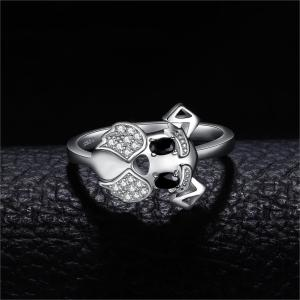 Image 2 - JewelryPalace Schnauzer Dog Genuine Black Spinel Ring 925 Sterling Silver Rings for Women Stackable Ring Silver 925 Jewelry
