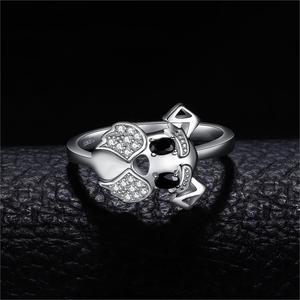 Image 2 - JewelryPalace sznaucer Dog prawdziwa czarna Spinel Ring 925 srebro pierścionki dla kobiet pierścionek do noszenia warstwowego srebra 925 biżuteria
