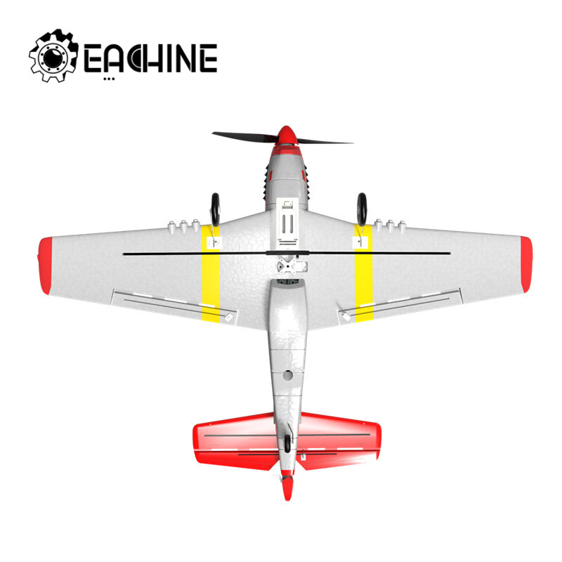 Eachine Mini P 51D EPP 400mm Wingspan 2.4G 6 Axis Remote Control RC Airplane Trainer Fixed Wing RTF One Key Return for Beginner RC Airplanes  - AliExpress