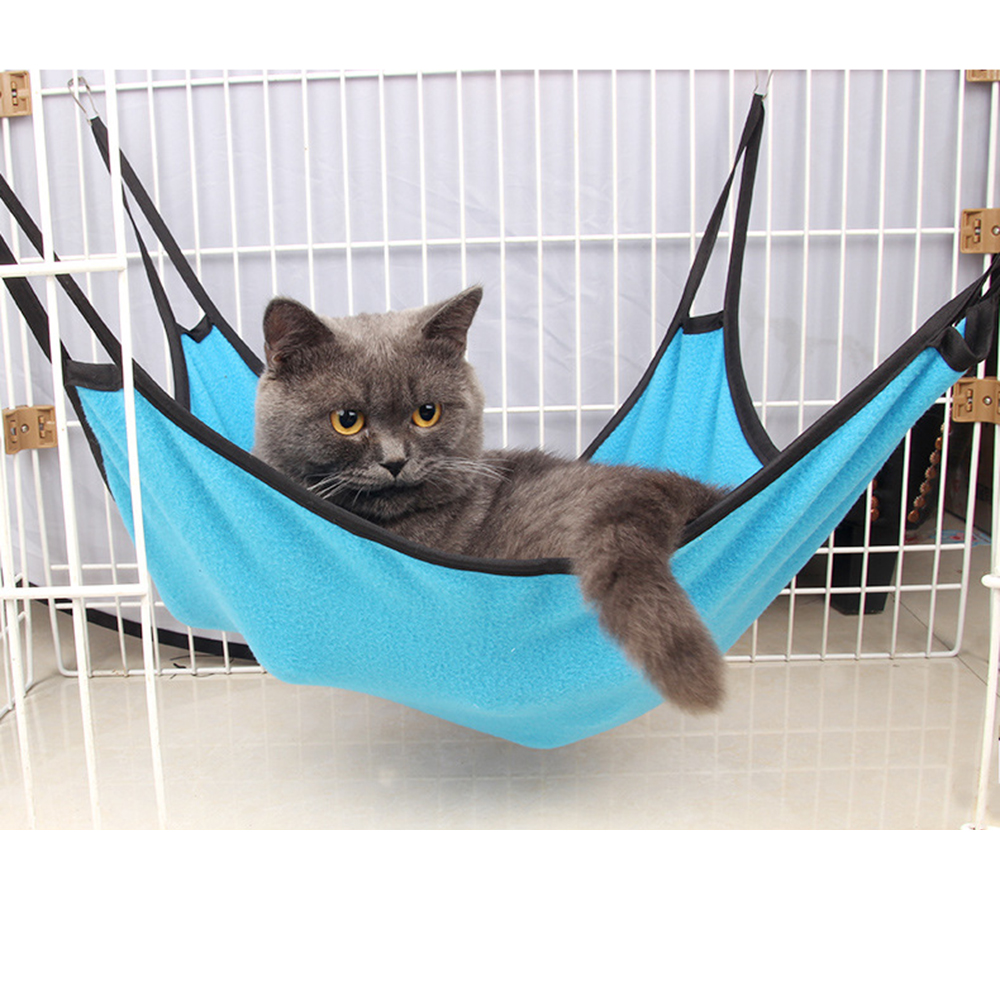 Durable Kitten Cat Hammock Cattery Mat Bed Comfortable Soft Hanging Fleece Pet Cage For Dog hammock