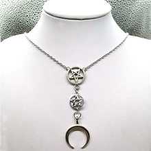 Ожерелье с полумесяцем Лунная черепаха искусственная луна вверх