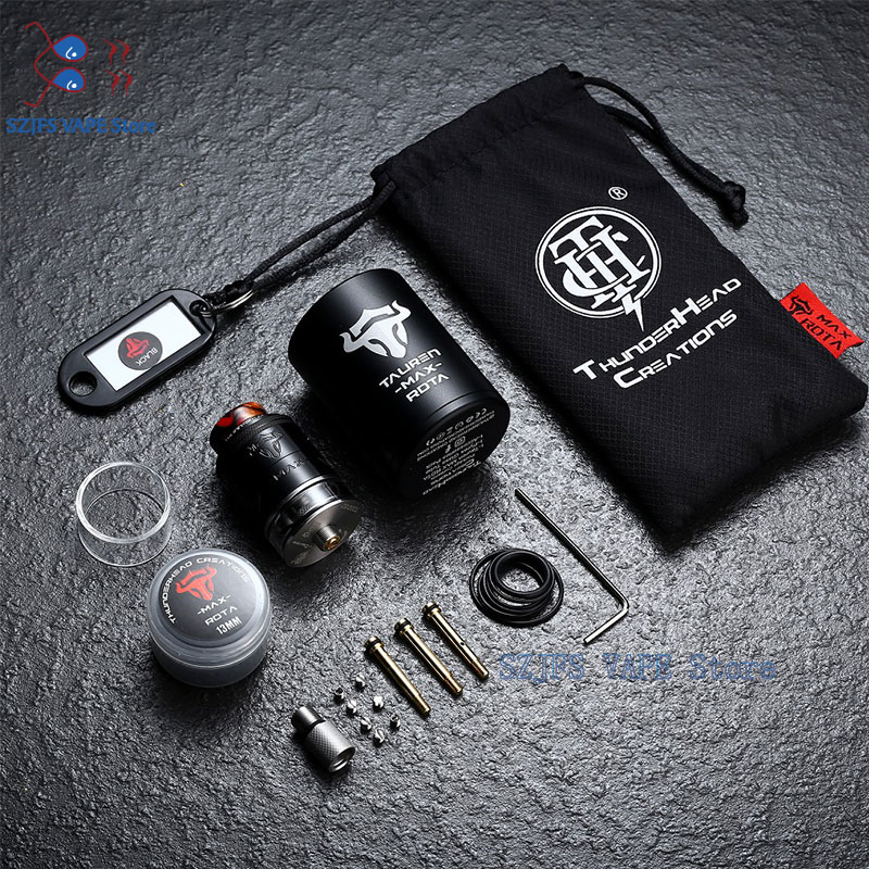 Original THC Tauren Max RDTA Rebuildable Atomizer 2ml & 4.5ml Capacity Dual Coil Electronic Cigarette Vape Tank Vs Sxk Haku Rdta