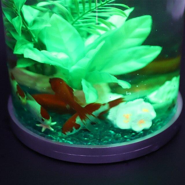 Mini Desktop Lighted Aquarium Fish Tank  5