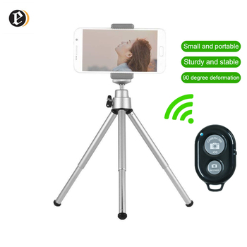 Tripod for Phone Tripode Camera Stand Holder for Mobile Phone Mini Tripod for Smartphone Bluetooth Remote Phone Tripods Metal fghgf bluetooth remote tripod bracket for iphone mini portable mount monopod extendable camera stand universal phone tripods