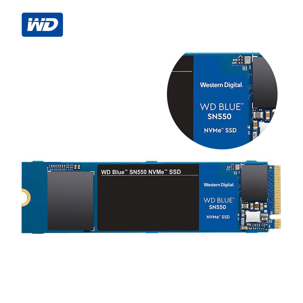 Western Digital Blue SN550 <font><b>SSD</b></font> 250GB <font><b>500GB</b></font> 1TB M.2 2280 NVMe PCIe Gen3*4 Internal Solid State Drive For PC 2020 New Model image