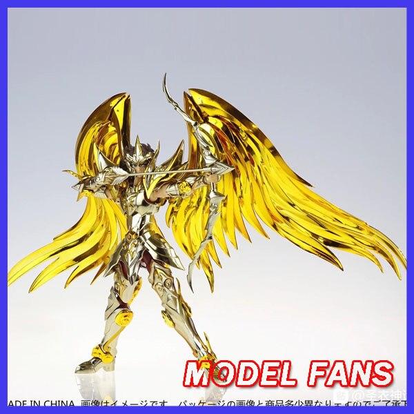 Modelo fãs em estoque gt grandes brinquedos sog ex sagitário aiolos alma de ouro saint seiya metal armadura mito pano ouro figura de ação