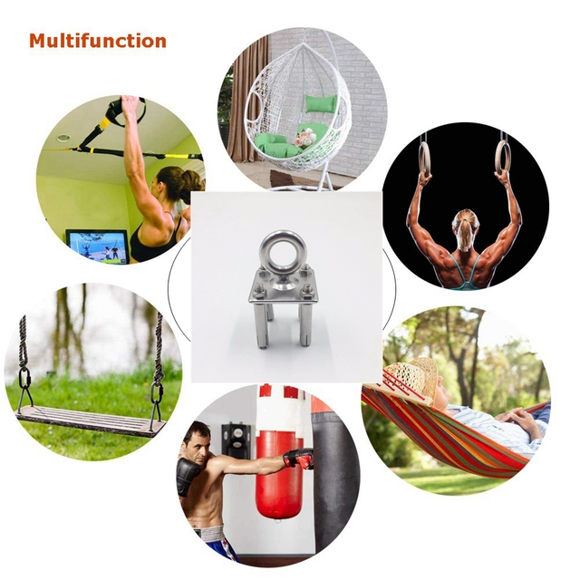 Stainless Steel Ceiling Hammock Wall Mount Anchor Aerial Training Suspension Bracket Trx Swing Hangers Yoga Chair Kit