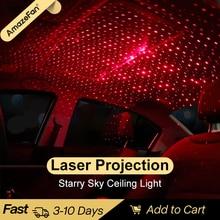 רכב גג כוכב לילה אורות מיני LED USB אור המפלגה DJ מועדון דיסקו RGB צבעוני לייזר דקורטיבי מנורות מקרן אוטומטי פנים