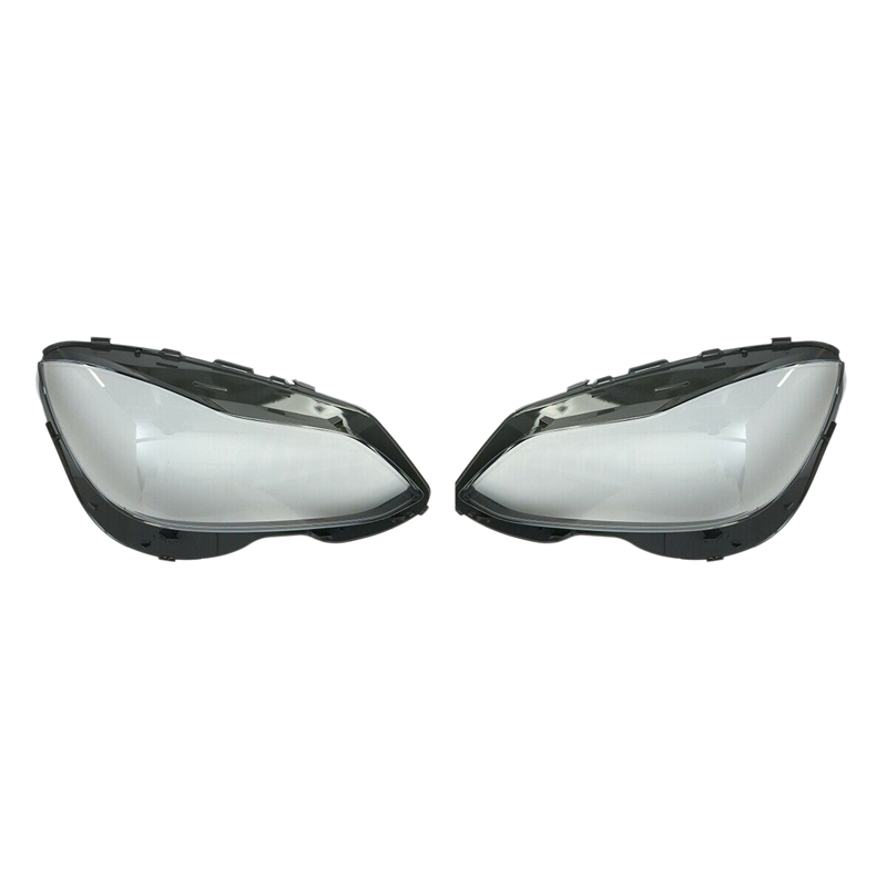 DHBH-2Pcs Front <font><b>Headlight</b></font> Cover Lamp Lens Replacement for Mercedes-Benz E Class <font><b>W212</b></font> E350 14-16 image