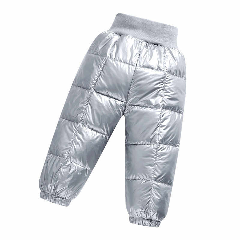 Winter warm kids pants snow wear Little girls & boys cotton padded pants children thick trousers for girls 1-5 Years