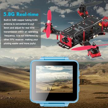 5 8GHz 48CH OSD poręczny zegarek z 2 cal LCD 960*240 wyświetlacz odbiornik fpv RC Racer DIY Racing Drone transmisji w czasie rzeczywistym RX tanie i dobre opinie ShenStar FPV200 167G EACHINE