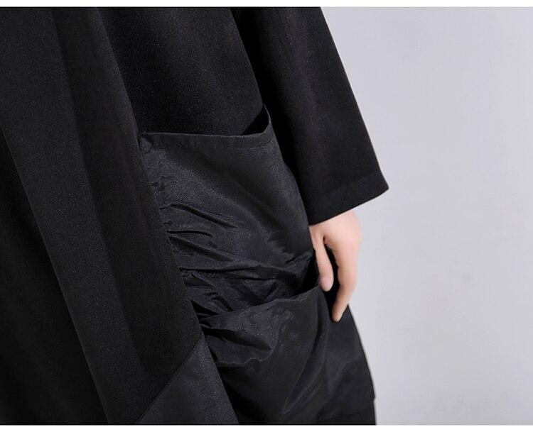 New Fashion Style Casual Black Patchwork Knee Length Dress Fashion Nova Clothing