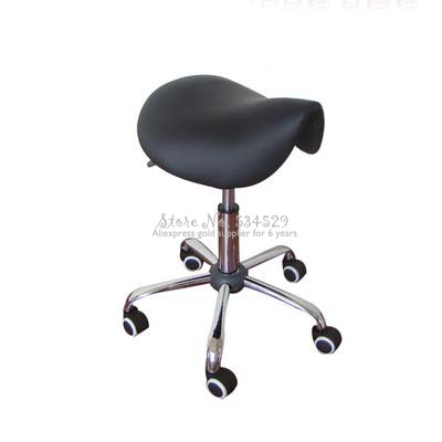 25% Rolling Massage Chair Saddle Stool Leather Upholstery Portable Pedicure Salan Spa Tattoo Facial Beauty Massage Swivel Chair