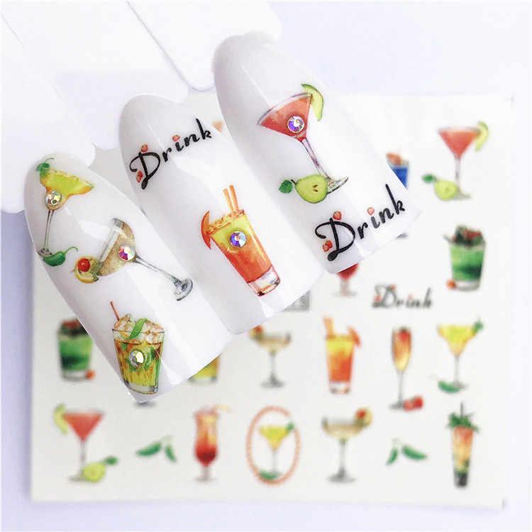 1 pièces Fruit noël Nail Art Design manucure imbiber émail Gel vernis UV Gel vernis à ongles vernis SYR26
