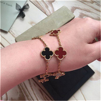 Original Hot Brand Luxury 5 Charm Bracelet Women 100% Pure Solid Sterling Silver 925 Set Natural Real Stone Top Quality Bijoux