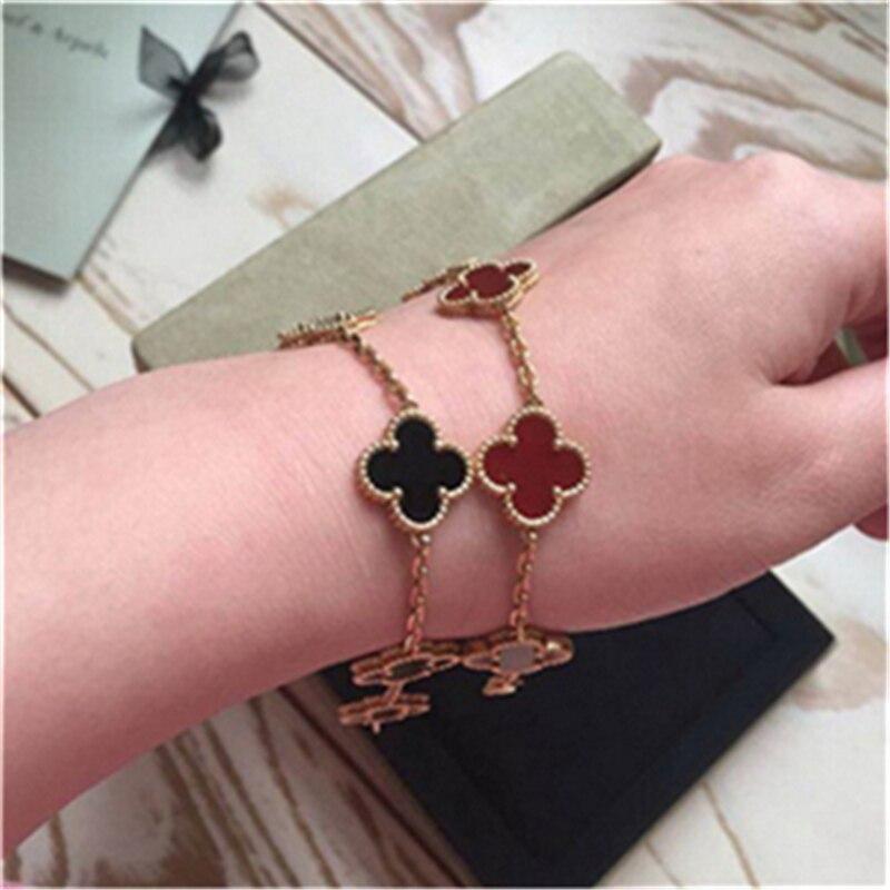 Original Hot marque de luxe 5 bracelet à breloques femmes 100% pur solide en argent Sterling 925 ensemble naturel véritable pierre Top qualité Bijoux