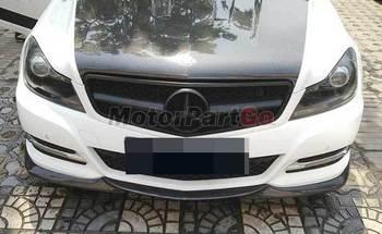 Suitable for Benz Mercedes C-class W204 C63amg Carbon Fiber Lip Spoiler Front Shovel M021 1