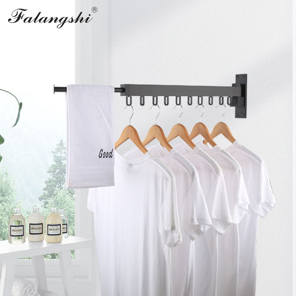 Telescopic Clothing Rod Punch Free Adjustable Drying Clothes Rack Storage Holder
