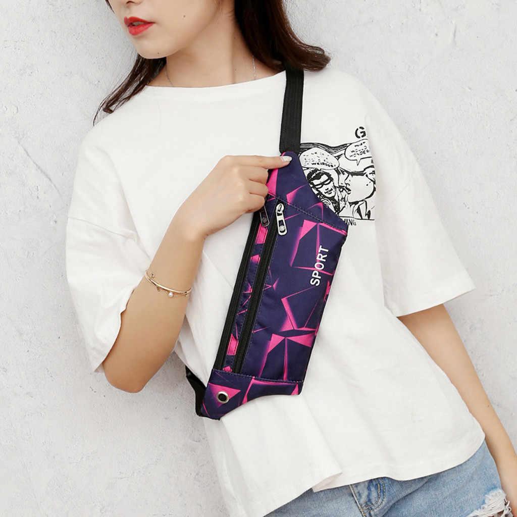 カラフルなウエストバッグユニセックス屋外ファニーパック防水機能スポーツのための女性の胸バッグ電話バッグ #5 $