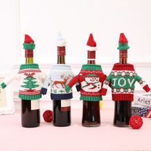 цена на New Christmas Wine Bottle Set Sweater Wine Bottle Set Christmas Wine Bottle Decoration Wine Set