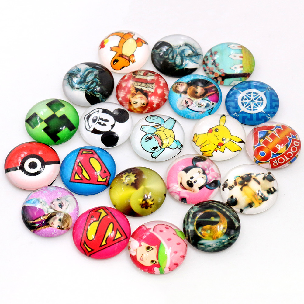 Clearance 8mm 10mm 12mm 14mm 20mm 25mm Mix Random Cabochons Fit 8-25mm Cabochon Base For Bracelet Ear Studs