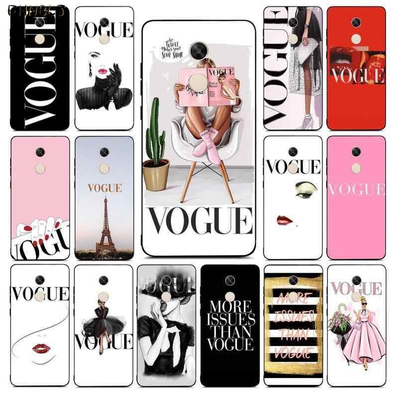 FHNBLJ Thương Hiệu Mới Hơn Vấn Đề Hơn Vogue TPU Mềm Mại Ốp Điện Thoại Ốp Lưng RedMi Note 4 5 6 7 5a 8 8pro Xiaomi Mi Mix2s Ốp Lưng