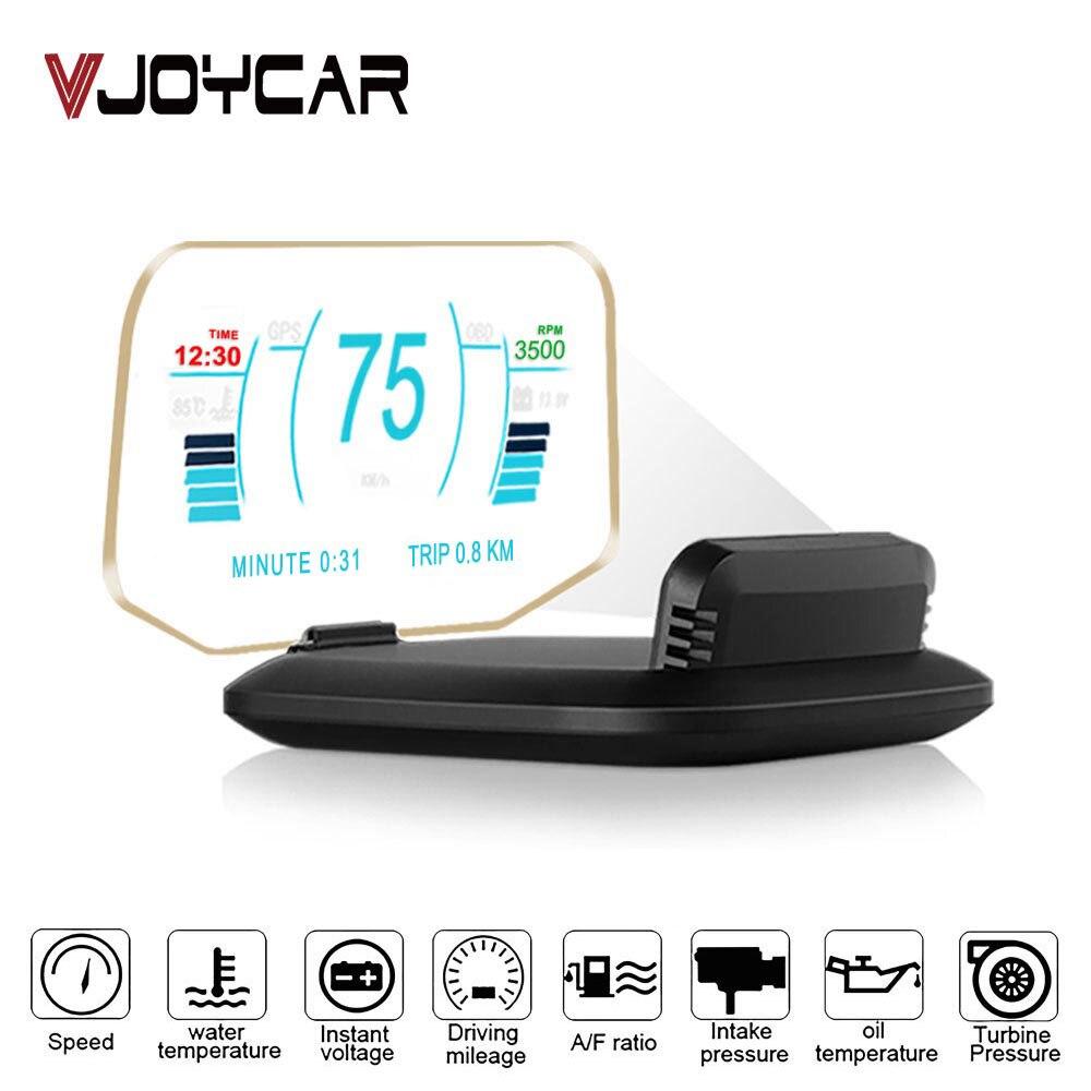 Nueva pantalla frontal OBD2 Car HUD Mirror Display C1 coche GPS velocímetro Overspeed Warning OBD2 + GPS Dual Mode código defectuoso Scan
