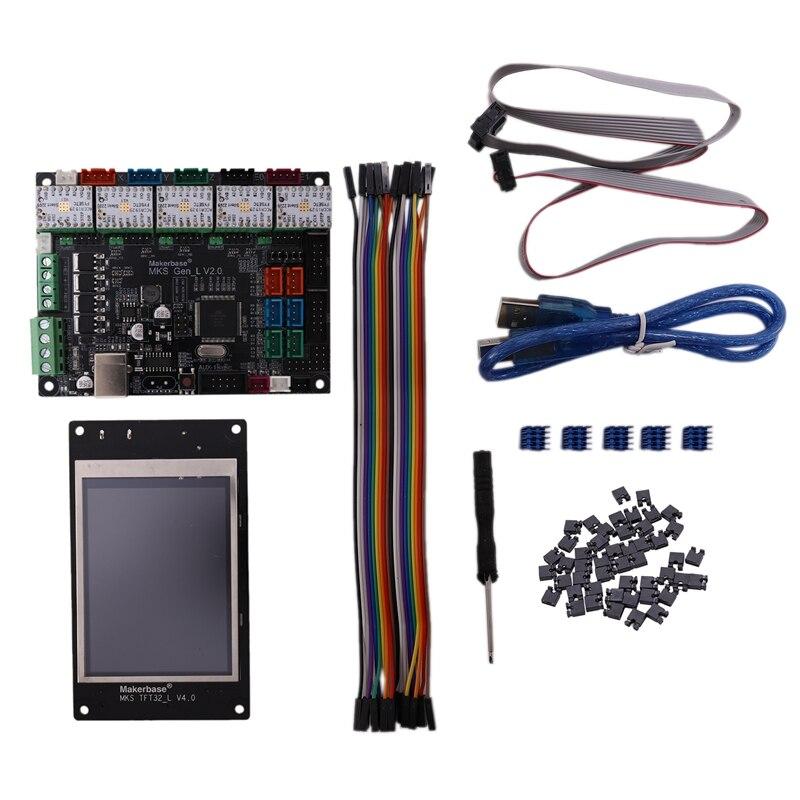 3D Printer MKS Gen-L V2.0 32Bit Board Motherboard + TMC2209 V1.2x5 Driver + TFT Display