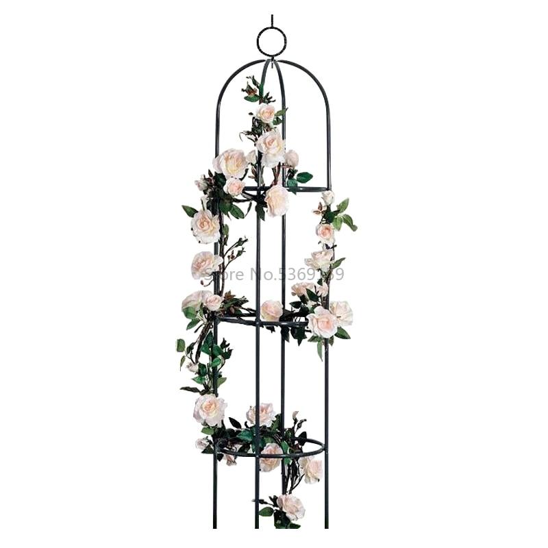 Gardening Vines Climbing Flower Stand Balcony Potted Bracket Wrought Iron Indoor Rose Clematis Climbing Vine Outdoor