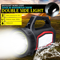 500W High Power Super Bright LED Searchlight Outdoor Hunting Handheld Portable Spotlight Lantern Rechargeable Flashlight Lamp