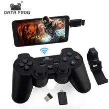 Wireless GamepadสำหรับPC PS3 โทรศัพท์Android TV Boxจอยสติ๊ก 2.4G Joypad Game Controller REMOTEสำหรับXiaomi OTGสมาร์ทโทรศัพท์