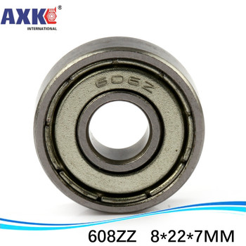 (1pcs) Double Shielded Miniature Deep Groove Ball Bearings 608ZZ 608-2RS S608ZZ S608-2RS 8*22*7 mm image