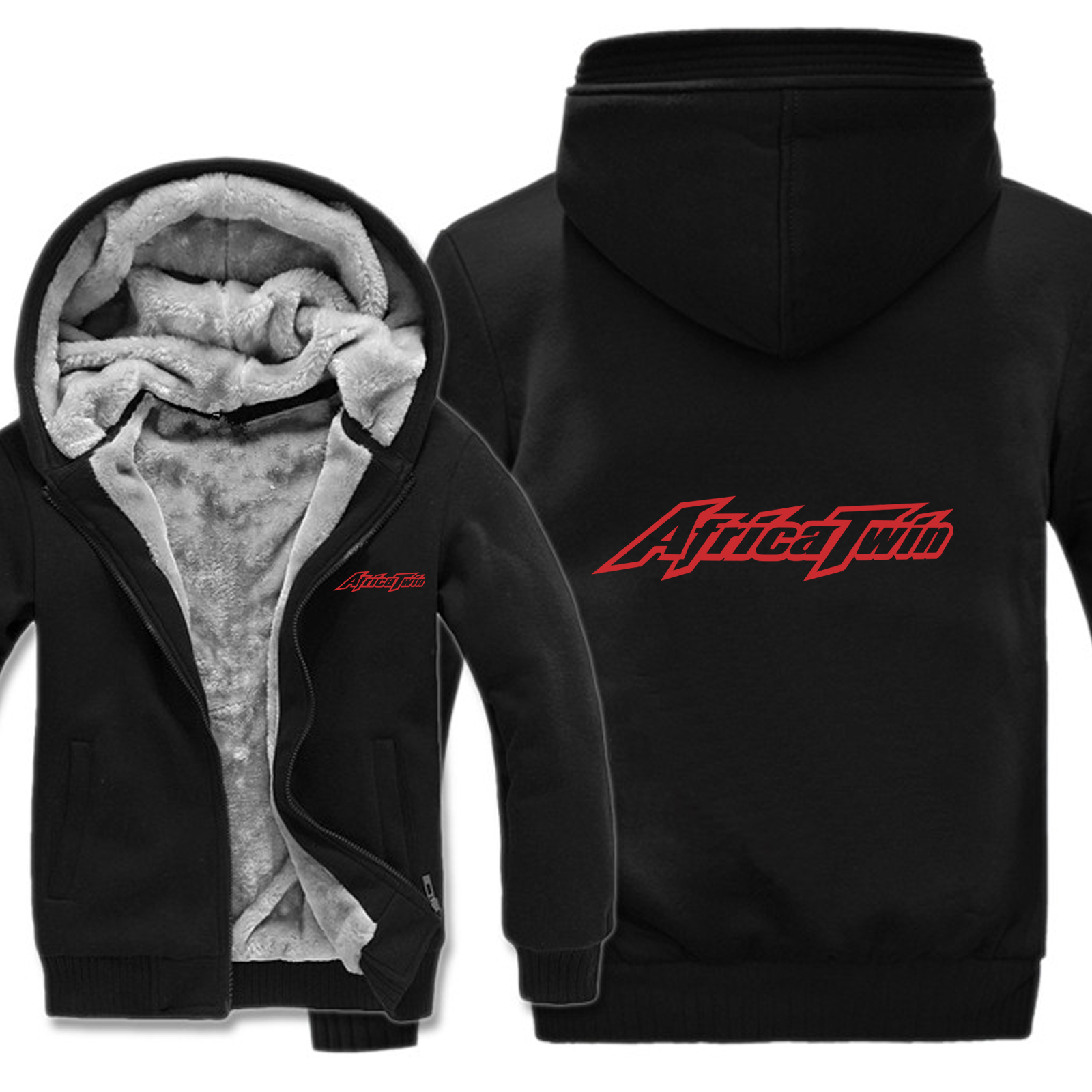 Winter Motorcycle Adventure AFRICA TWIN Hoodies Men Fashion Wool Liner Jacket AFRICA TWIN Pullover Sweatshirt