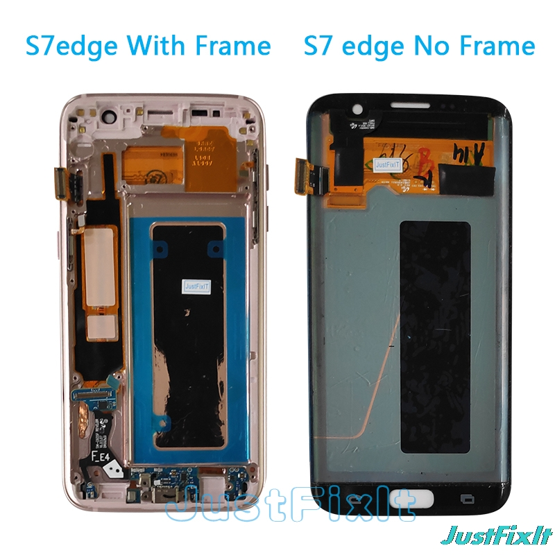 For For Samsung Galaxy S7 Edge G935F G935A G935FD Defect Lcd Display With Touch Screen Digitizer 5.5'' Super AMOLED Silver