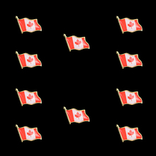Brooch Canadian Flag Leaf Backpacks/tie Lapel Metal Icon Red for New-Year Gift 10PCS