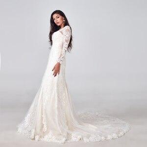 Image 1 - 2019 יוקרה בת ים חתונת שמלת מכירה לוהטת מלא ואגלי חתונת שמלת תפור לפי מידה מפעל סיטונאי כלה שמלה חדש כלה שמלה