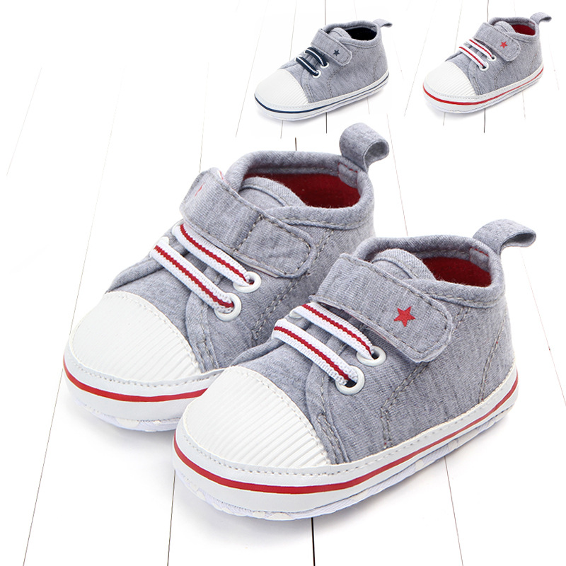 0-18M Fashion Baby Boys Girls Canvas Shoes Toddler Tennis Shoes Infant Casual Running Sport Anti-slip Soft Sole Shoes