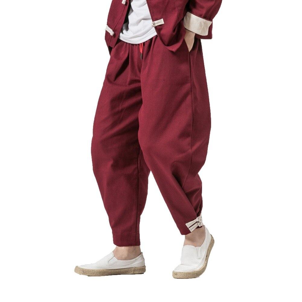 2019 Men Harem Pants  Mens Hip Hop Cross-pants Sweatpants Autumn Male Joggers Chinese Traditional Harajuku Trousers Dropshipping