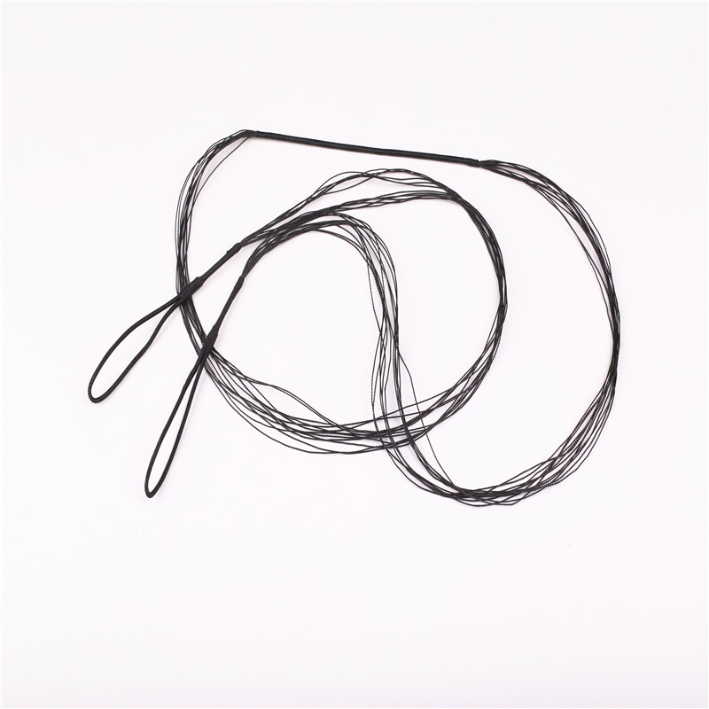 1PCS Black Bow String For Recurve Bow Archery Hunting  Length 115cm-180cm