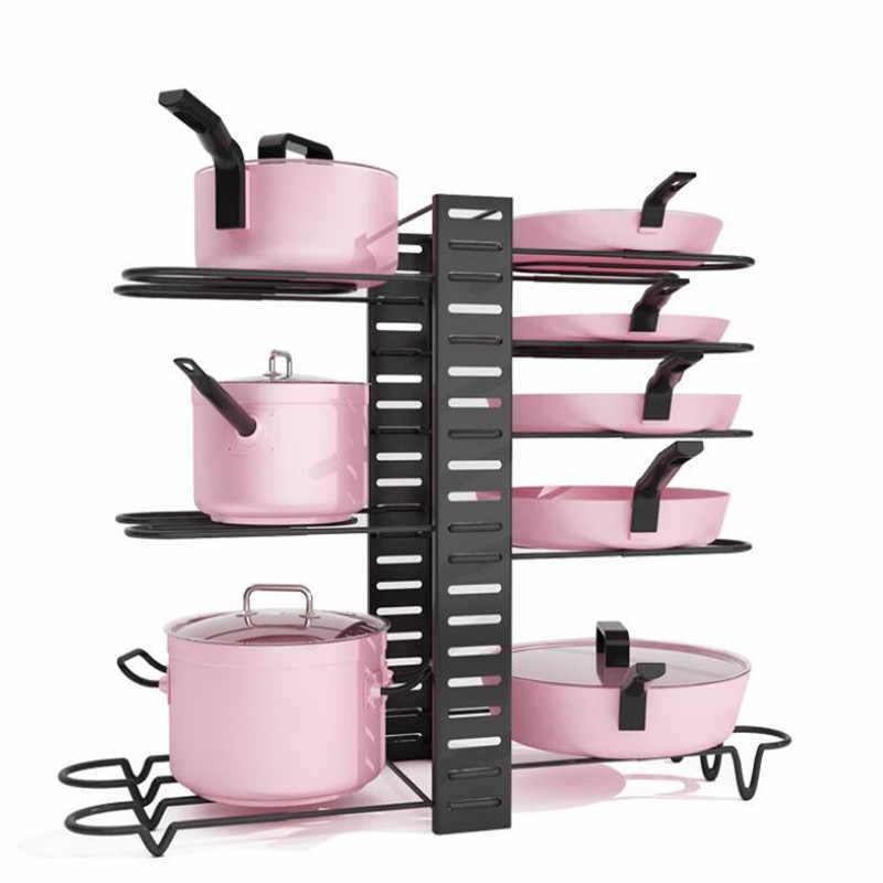 Accessori da cucina Organizzatore Pan Tagliere Piatti Titolare Cremagliera Del Basamento Del Metallo di Stoccaggio Scaffale di Scarico