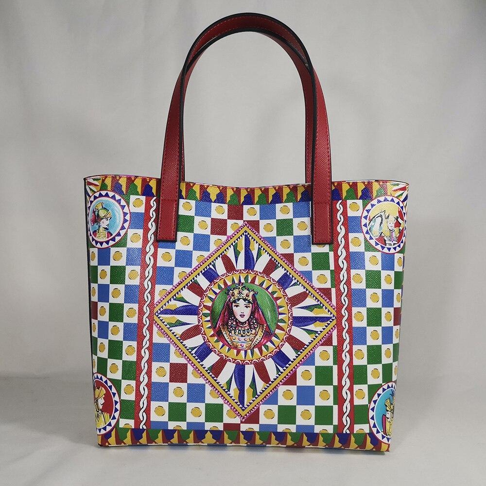 Fashion Women's Bags Women's Handbags Messenger Travel Beach Shoulder Bags Women's Leather Retro Prints Big Loose Diamonds