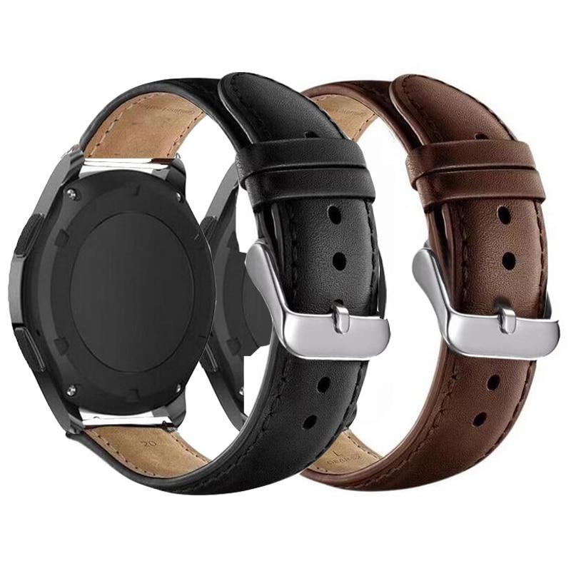 Ремешок для Samsung Gear sport S2 S3 Classic galaxy watch, 20 мм, 22 мм, 42 мм, 46 мм, active 40, 44 ремешка, huami amazfit gtr Bip, huawei gt 2 22mm strap leather loopwatch band genuine leather   АлиЭкспресс