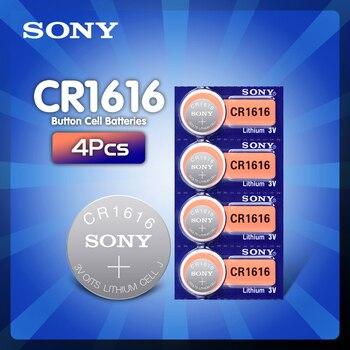 4 шт./лот CR1616 кнопочные батарейки SONY 100% оригинальный cr 1616 3V литиевая батарея DL1616 ECR1616 LM1616 5021LC