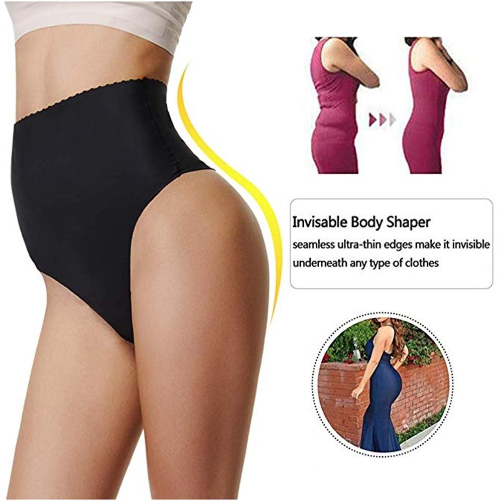 Сексуальное женское нижнее белье, трусики-стринги с контролем живота, женское нижнее белье с высокой талией для похудения, Корректирующее белье, трусы-брифы