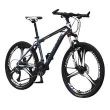 Lauxjack cadre en acier au carbone 24 26 pouces roue adulte tout-terrain VTT 24 vitesses route vélo hommes sport cyclisme course