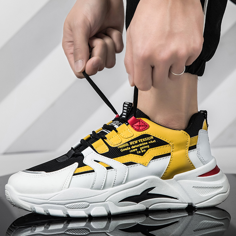 Men's Fashion Casual Shoes High Top Sneaker 2019 Spring New Men Breathable Shoes High Quality Non-slip Walking Shoe Zapatillas